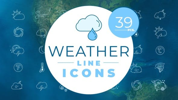 Thumbnail for Weather Icons Pack