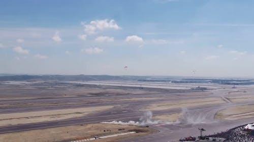 Aviation Festival Parachutes Landing 2