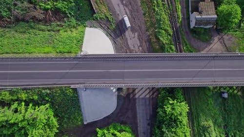 Bridge Which is Built Over the Train Rails
