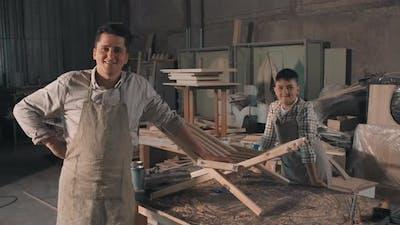Portrait Of Smiling Craftsmen