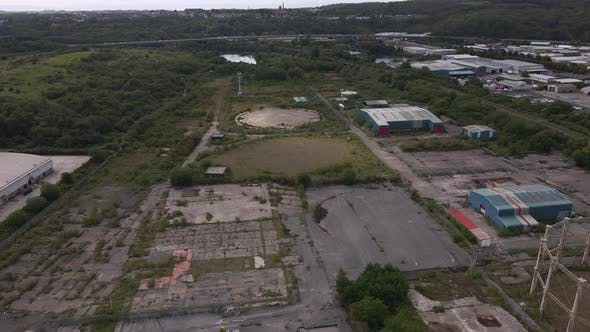 A Flight over an Abandoned Industrial Estate