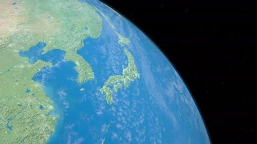 Shandong Peninsula in Planet Earth