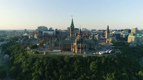 Aerial of The Hill, in Ottawa