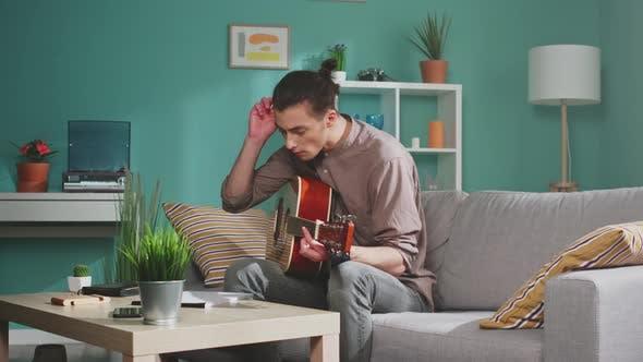 Man Freelancer Is Composing Music