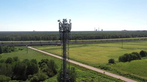 Cellular GSM Tower with 3g 4g 5g Transmitter