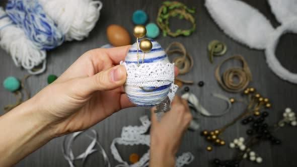 Thumbnail for Close Up Handmade Easter Egg
