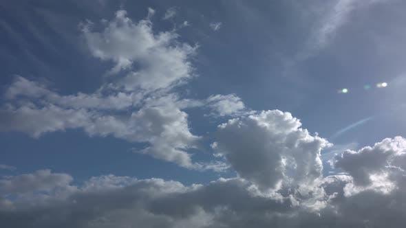 Rain Clouds On Overcast Sky
