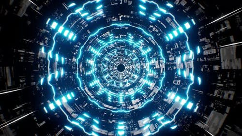 Abstract Sci Fi High Technology Tunnel 4K 01
