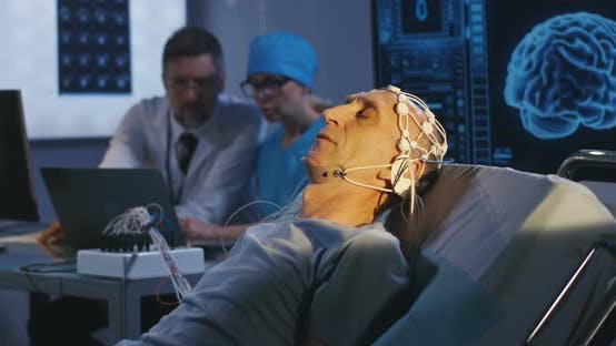 Thumbnail for Patient Lying in Bed During EEG Examination