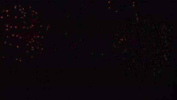 Multiple Fireworks at Night