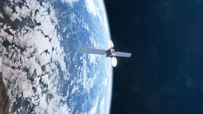 Realistic Animation of a Satellite in Orbit of Planet Earth