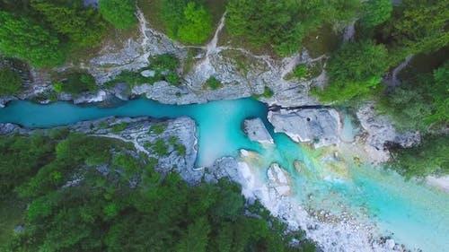 River Soca in the Triglav National Park
