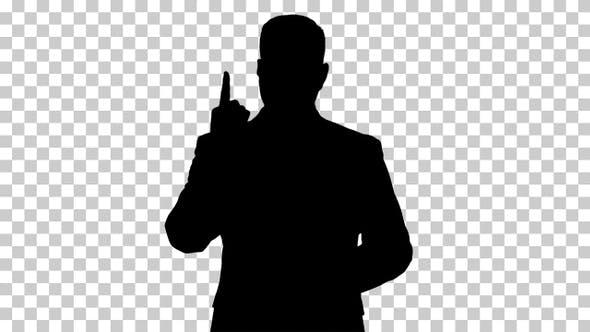 Silhouette Business man, Alpha Channel