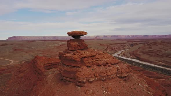 Thumbnail for Mexican Hat Rock Formation In Utah