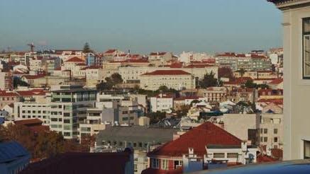 Scenic view of Lisbon neighborhood