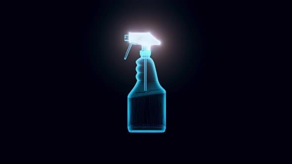 Cleaner Spray Hologram 4k
