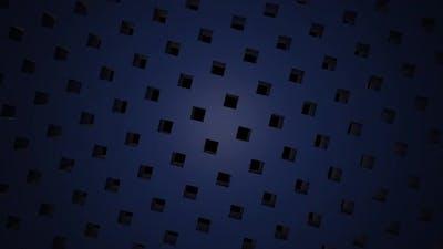 Rotating black cubes on a dark purple background