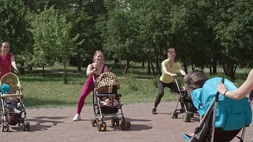 Squats with Stroller