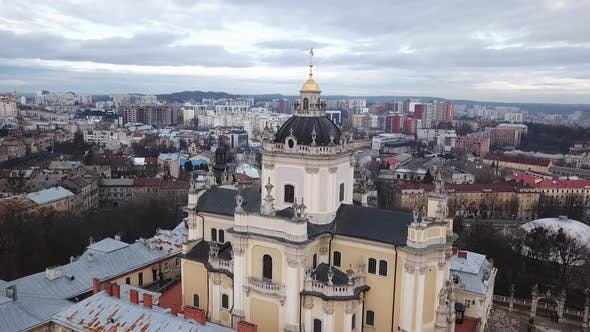 Thumbnail for The top view of the cityscape of Lviv city