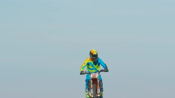 Cover Image for Motocross stunts in the air