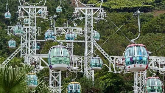 Thumbnail for Cable car in Hong Kong ocean park
