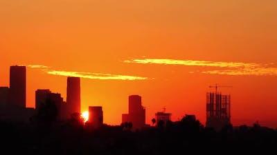 Los Angeles Sunrise Time Lapse