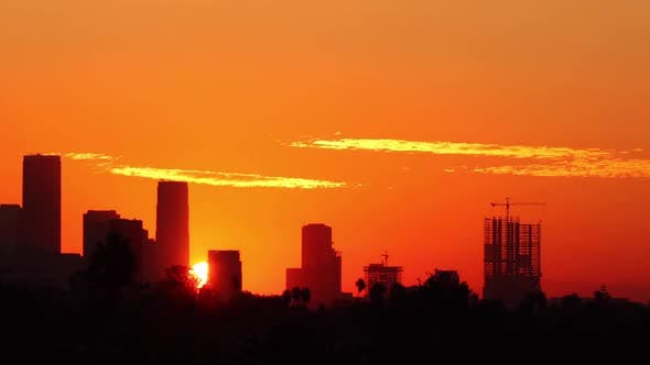 Thumbnail for Los Angeles Sunrise Time Lapse