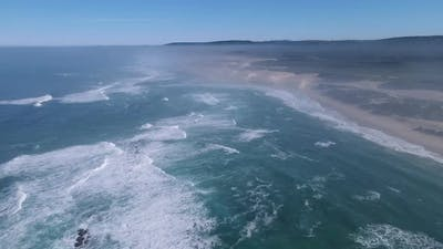 Aerial View of Coastline Shot From High Angle