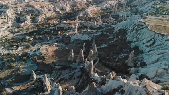 Thumbnail for Aerial View of Fairy Chimneys Valleys in Cappadocia Nevsehir Turkey
