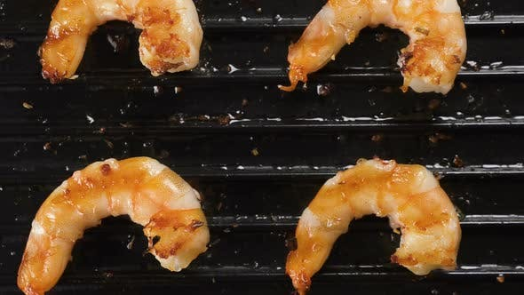 Shrimps Grilled on an Electric Grill