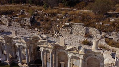 Top View of Ruins of an Ancient Building