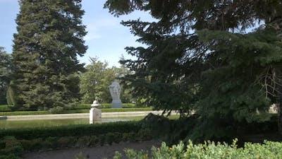 Sculptures in a park