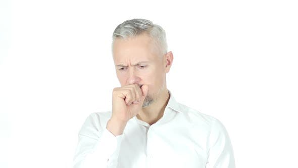 Thumbnail for Coughing , Businessman Suffering From Cough