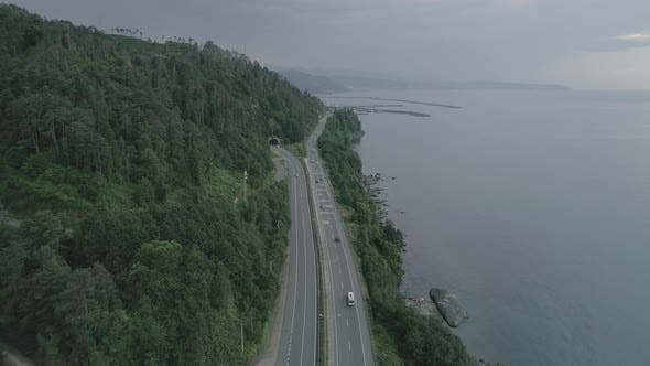 Thumbnail for Aerial View Of Highway And Forest
