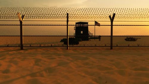 United States Military Border Area and Behind Fences