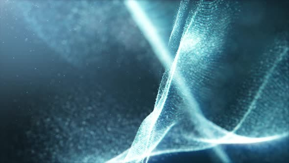 Thumbnail for Futuristic Mysterious Flowing Digital Particles 01