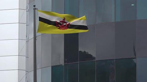 Brunei Flag Background 4K