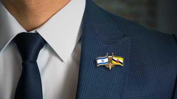 Thumbnail for Businessman Friend Flags Pin Israel Brunei