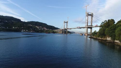 Brückenwartungspanorama
