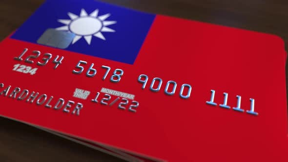 Cover Image for Credit Card with Flag of Taiwan