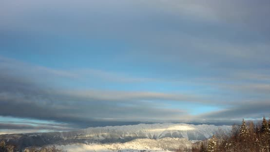 Mountain Peak in the Distance - Fundata Romania