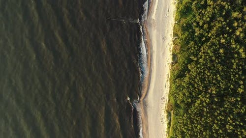 Curonian Spit Wth Baltic Sea Coastline