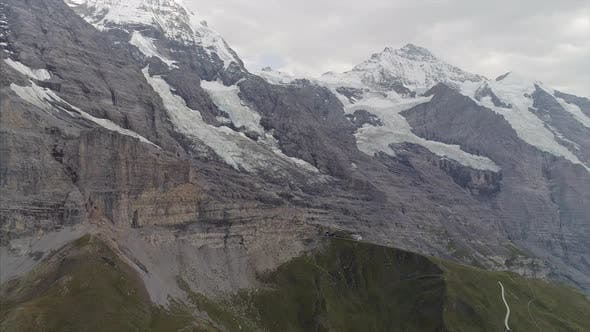 Eiger and Jungfrau Mountains in the Bernese Alps Switzerland
