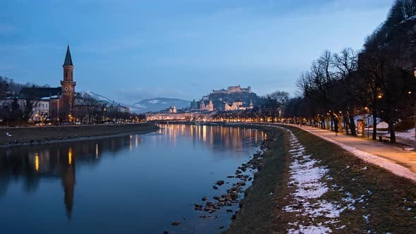 Thumbnail for Evening Timelapse of Salzburg Old Town