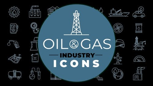 Oil And Gas Industry Icons Pack