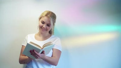 Reading Hobby Fairytale Story Woman with Open Book