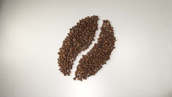 Thumbnail for Coffee Beans Transform To Symbols: Bean, Cup And Heart