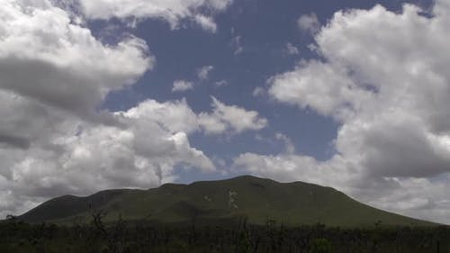 Clouds shadow on the mountains time lapse