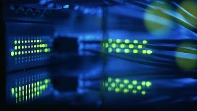 Super Computer Server Racks in Datacenter