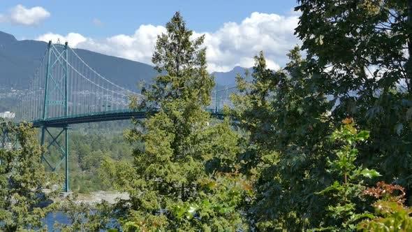 Thumbnail for Vancouver City - Lions Gate Bridge - Summer Traffic - 02